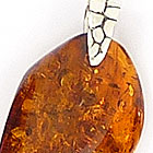 Amber and sterling silver pendants - lot B