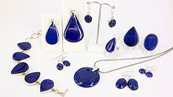 Lapis lazuli and sterling silver jewellery