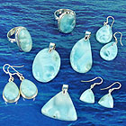 Larimar and sterling silver jewellery