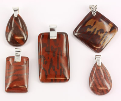 Printstone pendants mixed