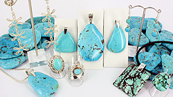 Turquoise and sterling silver jewellery