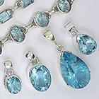 Blue topaz and sterling silver jewellery
