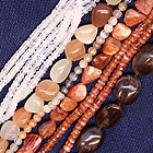 various moonstone and sunstone beads